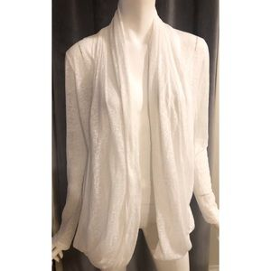Free People White Light weight Cotton cardigan